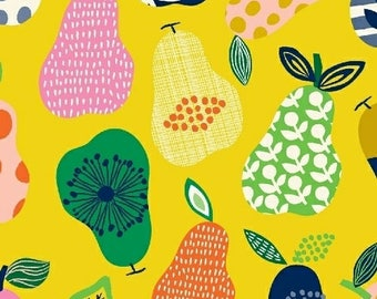Hand Picked - Pears Yellow - Carolyn Gavin of Ecojot - Windham (43111-6) - Organic Cotton