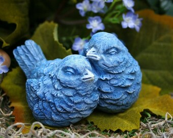 Blue Birds - Bluebird - Love Birds - Concrete Decor For Your Home or Garden