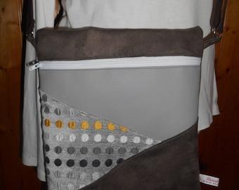 Bag strap - Brown and gray