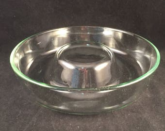 "Vintage Glass Corning Bundt Cake Pan by Pyrex, 9"", Cakes, Rolls, Jello, Glass Cake Pan, Pyrex Glass Pan"