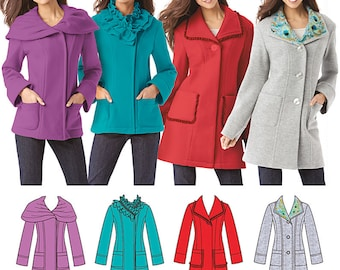 Simplicity 1540 Jacket Sewing Pattern in Two Lengths with Collar Variations Size 14, 15, 18, 20, and 22