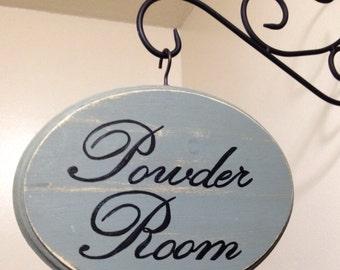 Adorable Bathroom Sign (Sage) Powder Room (5x7)