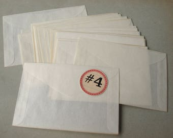 Vintage Glassine Envelopes Size 4 Translucent Paper Unused (25)