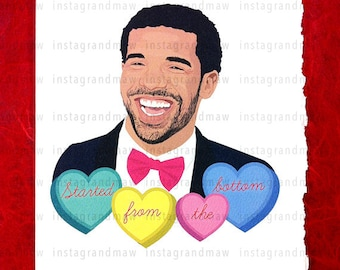 Drake Started From The Bottom Card