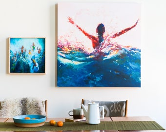Canvas Art Print Custom sized Home decor of any painting by Scout Cuomo