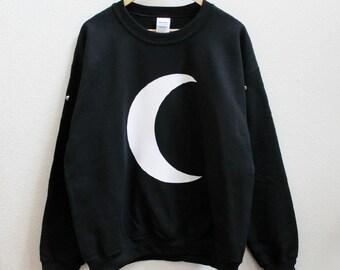 Black crescent moon sweatshirt