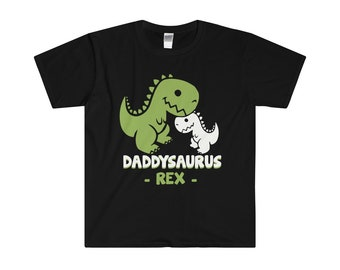 Daddysaurus For Daddy Rex MenS Fitted Short Sleeve Tee Shirt