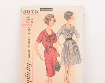 1960s Simplicity 3575 // one piece dress with two skirts