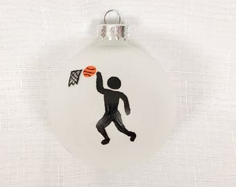 Basketball ornament - Personalized - Basketball Player Ornament- Christmas Gifts - Glass Ball Ornament - Hand Painted - Gifts for Kids