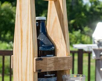 Beer Growler Carrier - Beer Caddy - Pallet Wood Growler Holder - Home Brewing - Beer Lover - Gift For Him - Craft Beer Gift - Single Growler