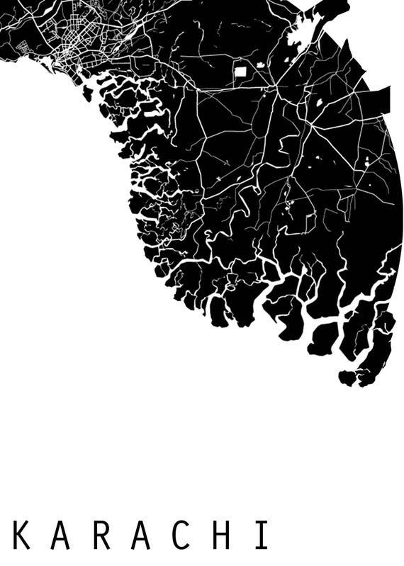 Karachi map world map asia map pakistan map black and te gusta este artculo gumiabroncs Gallery