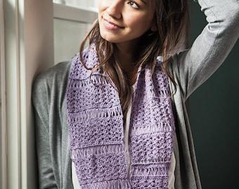 Crochet Pattern-- Blossom and Broomsticks Infinity Scarf --Crochet Pattern