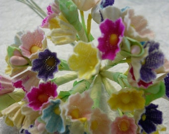 Vintage Mixed Color  Posies NOS
