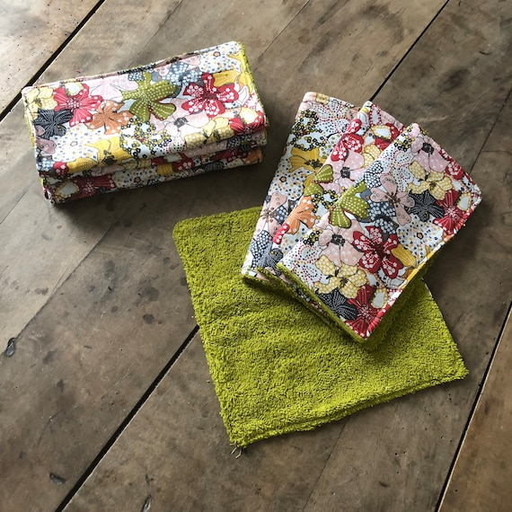 Set of square sponge and cotton Liberty