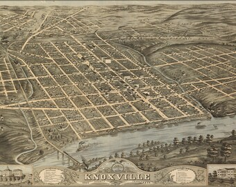 Poster, Many Sizes Available; Birdseye View Map Of Knoxville, Tennessee 1871