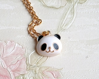 Panda Necklace Pendant necklace Panda Bear Necklace Animal Necklace Panda Jewelry Animal Jewelry White Panda Bear Charm Gift Under 25