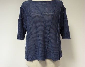 Special price. Denim linen sweater, S/M size.