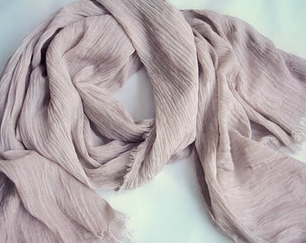 Linen hemp shawl scarf Dusty Blush or more colors