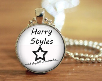 Harry Styles Won't Stop Till We Surrender Tattoo Pendant Keychain Necklace Jewelry