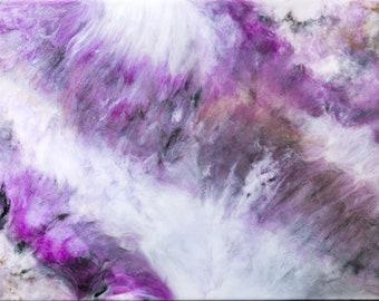 PURPLE HAZE. Original resin art