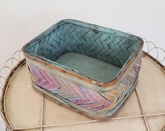 Vintage woven bamboo  basket