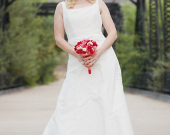 Simple Wedding Dress - Vintage Inspired - Dreamboat Annie