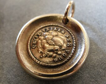 All Seeing Eye Wax Seal Charm May It Watch Over You - antique wax seal jewelry pendant in bronze by RQP Studio