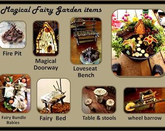 Fairy items - Fairy gardens - fairy garden kits - fairy gardens - fairy furniture - fairy house - fairies - garden accessories