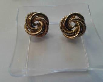 Monet knot clip-on earrings