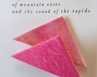 Origami Page Corner Bookmarks-Watermelon & Pink