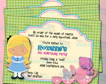 Wonderland Invitations 3