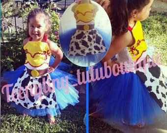 Jessie inspired tutu set from toy story pix home made