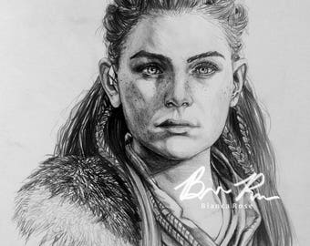 Portrait of Aloy (Horizon Zero Dawn) (Guerilla Games)