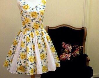 Sleeveless Sweetheart Dress. You are My Sunshine.