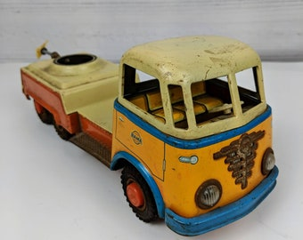 Vintage Gama Friction Tin Toy Truck - As Found
