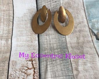 Brass Statement earrings, dangle earrings, stud earrings, vintage earrings
