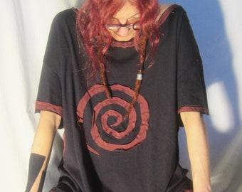 Spiral Burgundy T Shirt