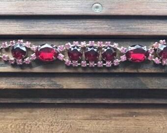 Vintage closed back paste bracelet