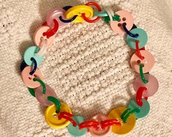 Children/adult adjustable button bracelet