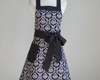 Apron Pattern PDF Women's Full and Half - The FLIRTY GIRL - Instant Download #102