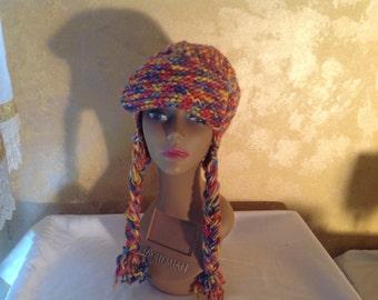 Muti-colored Crochet Winter Hat