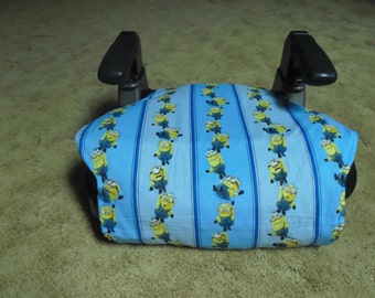 Minions booster seat cover--booster seat not included