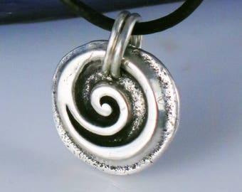 Celtic Symbol of Gratitude Fine Silver Pendant Gift - Celtic Gratitude SS Key Ring Gift - Celtic Symbol Gratitude - Fine Silver Celtic Gift