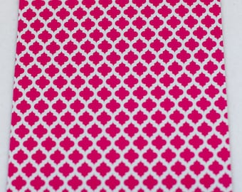 50 6x9 Hot Pink Quatrefoil Poly Mailers