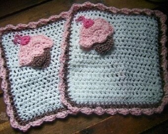 Crochet Cupcake Washcloths Pattern pdf 258