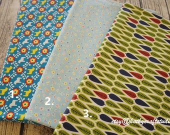 Waterproof Half yard(45cm*140cm)-Waterproof fabric--folk art flower pattern