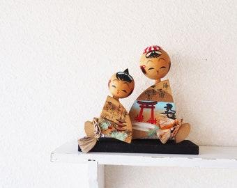 Miyajima Kokeshi Hand-Painted Vintage Souvenir