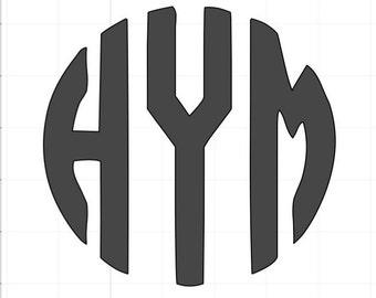 Open Circle Personalized Monogram