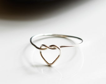 Heart Knot Ring (Sterling Silver)