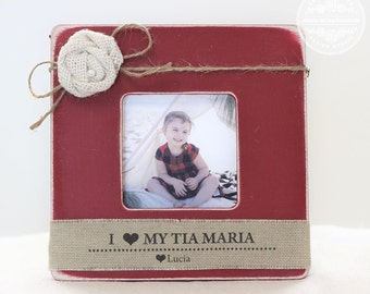 Tia Tio Christmas Gift Personalized Picture Frame for Aunt Uncle in Spanish Holiday Christmas GIFT Niece Nephew
